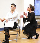 """Tony Yazbeck and Laura Osnes during a Performance Sneak Peek of The MCP Production of """"The Scarlet Pimpernel"""" at Pearl Rehearsal studio Theatre on February 14, 2019 in New York City."""