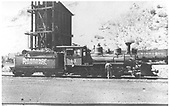 RGS 2-8-0 #41 on ready track at Durango with new sunrise herald on her tender.<br /> RGS  Durango, CO  Taken by White, Everett - 1942-1945