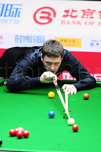 31.03.2011 Beijing, CHINA; John Higgins defeats Ricky Walden 5:2 in the second round at the 2011 World Snooker China Open.