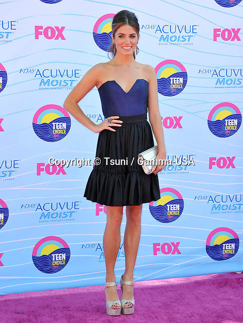 Nikki Reed  at the Teen Choice 2012 Awards at the Universal Amphitheatre In Los Angeles.