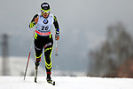 04/01/2014, Val Di Fiemme - 2014 Cross Country Ski World Cup Tour de ski <br /> Celia Aymonier (FRA) in action during the Women 5 km Classic Individual in Val Di Fiemme, Italy on 04/01/2014.<br /> <br /> &copy; Pierre Teyssot