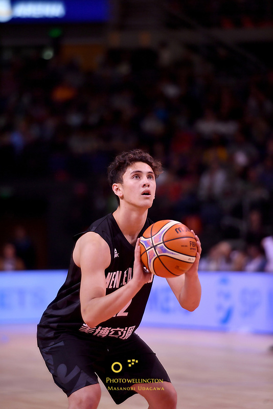 New Zealand Tall Blacks&rsquo; Kruz Perrott-Hunt in action during the the FIBA World Cup Basketball Qualifier - NZ Tall Blacks v Jordan at Horncastle Arena, Christchurch, New Zealand on Thursday 29 November  2018. <br /> Photo by Masanori Udagawa. <br /> www.photowellington.photoshelter.com