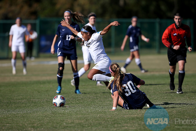 05 DEC 2015:  Jayma Martin (12) of Grand Valley State University attacks the Columbus State University defense during the Division II Women's Soccer Championship held at the Ashton Brosnaham Soccer Complex in Pensacola, FL.   Grand Valley State defeated Columbus State 2-0 for the national title.  Jason Parkhurst/NCAA Photos