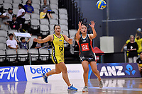 Hellers Mainland&rsquo;s Tiuana-Marie Aiono in action during the Beko Netball League - Central Manawa v Hellers Mainland at Fly Palmy Arena, Palmerston North, New Zealand on Sunday 10 March 2019. <br /> Photo by Masanori Udagawa. <br /> www.photowellington.photoshelter.com