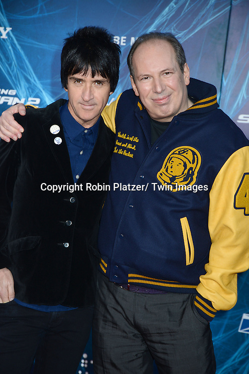 John Marr and Hans Zimmer attends the Premiere of &quot; The Amazing Spider-Man 2&quot; <br /> on April 24, 2014 at The Ziegfeld Theatre in New York City, NY, USA.