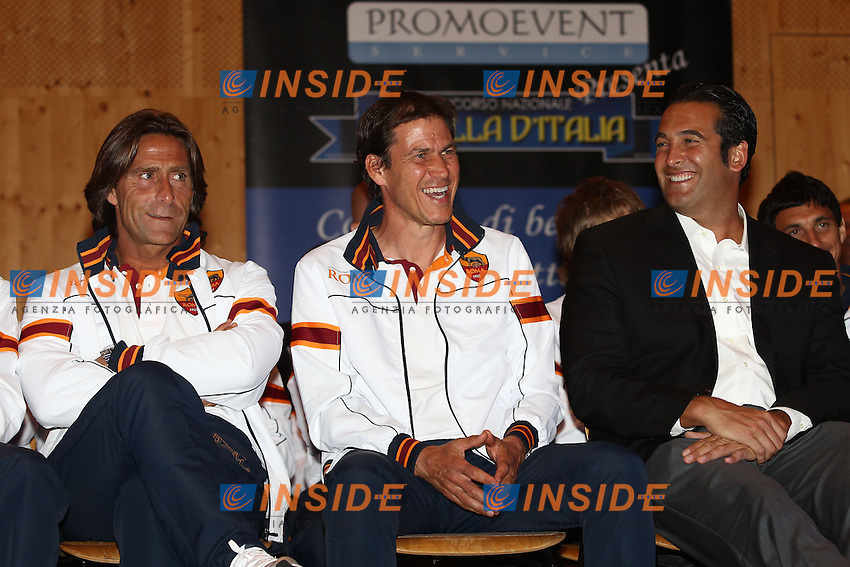 Frederic Bompard, Rudi Garcia, Italo Zanzi <br /> Riscone (Brunico) 15.7.2013 <br /> Football Calcio 2013/2014 Serie A<br /> Presentazione Squadra <br /> As Roma introduction to supporters <br /> Foto Gino Mancini / Insidefoto