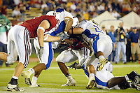 J.R. Lemon scores his 2nd td of the game during Stanford's 63-26 win over San Jose State on September 14, 2002 at Stanford Stadium.<br />Photo credit mandatory: Gonzalesphoto.com