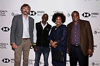 "NEW YORK CITY - APRIL 22: (L-R) Steve Boyes , Tumeletso ""Water"" Setlabosha, Elizabeth Mmasello Ntwaagae and Permanent Representative to the United Nations for Botswana Charles Thembani Ntwaagae attend  National Geographic's ""Into The Okavango"" Screening at Tribeca Film Festival at Tribeca Festival Hub on April 22, 2018 in New York City. (Photo by Anthony Behar/National Geographic/PictureGroup)"