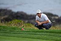 Thomas Pieters (BEL) looks over his putt on 8 during round 1 of the 2019 US Open, Pebble Beach Golf Links, Monterrey, California, USA. 6/13/2019.<br /> Picture: Golffile | Ken Murray<br /> <br /> All photo usage must carry mandatory copyright credit (© Golffile | Ken Murray)