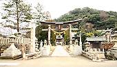 Jan. 21, 2009; Obama, Fukui Prefecture, Japan - Entrance to Hachiman Shrine