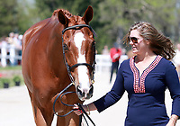 LEXINGTON, KY - April 26, 2017. #8 Houdini and Katie Ruppel from the USA at the Rolex Three Day Event First Horse Inspection at the Kentucky Horse Park.  Lexington, Kentucky. (Photo by Candice Chavez/Eclipse Sportswire/Getty Images)
