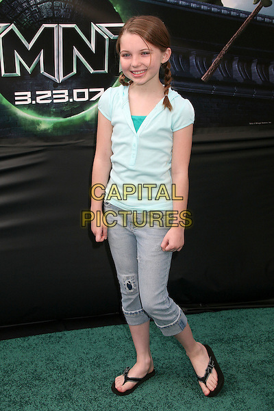 "SAMMI HANRATTY.""TMNT"" (aka. ""Teenage Mutant Ninja Turtles"") Los Angeles Premiere at Grauman's Chinese Theatre, Hollywood, California, USA, 17 March 2007..Full length.CAP/ADM/BP.©Byron Purvis/AdMedia/Capital Pictures."