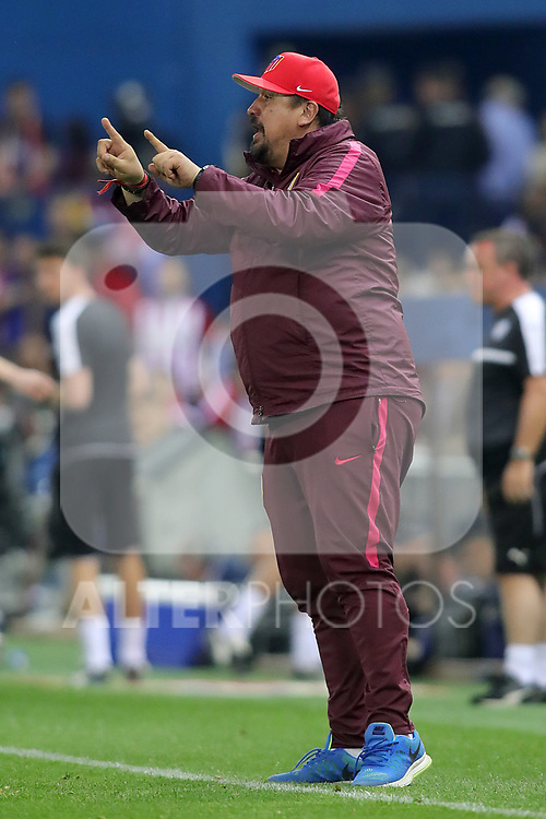 Atletico de Madrid's second coach German El Mono Burgos during Champions League 2016/2017 Quarter-finals 1st leg match. April 12,2017. (ALTERPHOTOS/Acero)