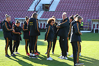 20191008 CLUJ NAPOCA: Belgian players are pictured before the match between Belgium Women's National Team and Romania Women's National Team as part of EURO 2021 Qualifiers on 8th of October 2019 at CFR Stadium, Cluj Napoca, Romania. PHOTO SPORTPIX | SEVIL OKTEM