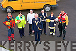 CIVIL DEFENCE: l-r: Tom Brosnan Civil Defence Officer, Kerry with six of his crew: l-r: Paul McDonnell (Seach/Rescue),  Brenda White (casaulity) Maurice Brosnan (Welfare), Tom Griffin (Hq Staff SO), Caroline McConnell (Auxilary Fire Service), Paudie McKenna(Sea and Rescue)...................