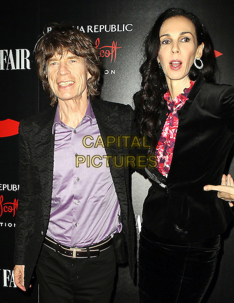 L'Wren Scott, partner of Mick Jagger &amp; former model, is found dead in her New York home on in an apparent suicide on March 17th, 2014.<br /> 19 November 2013 - Los Angeles, California - L'Wren Scott, Mick Jagger. Banana Republic L'Wren Scott Collection at Chateau Marmont. <br /> CAP/ADM/KB<br /> &copy;Kevan Brooks/AdMedia/Capital Pictures