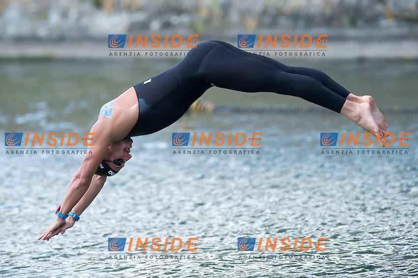 RUFFINI Simone ITA<br /> Hoorn, Netherlands <br /> LEN 2016 European Open Water Swimming Championships <br /> Open Water Swimming<br /> Men's 5km<br /> Day 02 12-07-2016<br /> Photo Giorgio Perottino/Deepbluemedia/Insidefoto