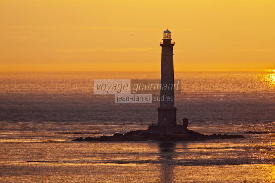 Europe/France/Normandie/Basse-Normandie/50/Manche/Presqu'île de la Hague/Goury: Phare du Cap de la Hague dans la lumière du soir