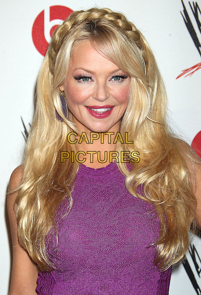 Charlotte Ross<br /> WWE &amp; E! Entertainment's &quot;SuperStars For Hope&quot; supporting Make-A-Wish at The Beverly Hills Hotel in Beverly Hills, CA., USA.<br /> August 15th, 2013<br /> half length purple lace  headshot portrait hair up braid plait<br /> CAP/ADM/RE<br /> &copy;Russ Elliot/AdMedia/Capital Pictures