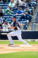 New York Yankees outfielder Brennan Boesch #22 during a Spring Training game against the Pittsburgh Pirates at Legends Field on March 28, 2013 in Tampa, Florida.  (Mike Janes/Four Seam Images)