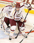Edwin Shea (BC - 8) - The visiting Merrimack College Warriors tied the Boston College Eagles at 2 on Sunday, January 8, 2011, at Kelley Rink/Conte Forum in Chestnut Hill, Massachusetts.