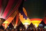 Hot AIr Balloons glow at Night