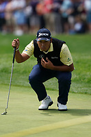 Hideki Matsuyama (JPN) on the 1st fairway during the final round at the PGA Championship 2019, Beth Page Black, New York, USA. 20/05/2019.<br /> Picture Fran Caffrey / Golffile.ie<br /> <br /> All photo usage must carry mandatory copyright credit (© Golffile | Fran Caffrey)