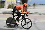 Greg Van Avermaet (BEL) CCC Team recons the course before the start of Stage 7 of the Race of the Two Seas, the 54th Tirreno-Adriatico 2019, an individual time trial running 10.1km around San Benedetto del Tronto, Italy. 19th March 2019.<br /> Picture: LaPresse/Fabio Ferrari | Cyclefile<br /> <br /> <br /> All photos usage must carry mandatory copyright credit (&copy; Cyclefile | LaPresse/Fabio Ferrari)