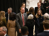 Neil Bush, son of former United States President George H.W. Bush, greets visitors as they pay respects to his Dad as he lies in state in the Rotunda of the US Capitol on Monday, December 3, 2018.<br /> Credit: Ron Sachs / CNP<br /> (RESTRICTION: NO New York or New Jersey Newspapers or newspapers within a 75 mile radius of New York City)