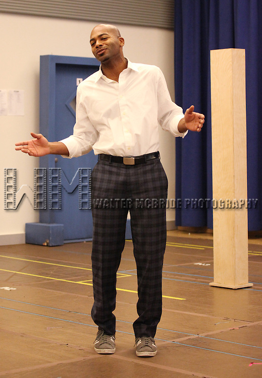 Brandon Victor Dixon attending the 'MOTOWN The Musical' Sneak Peek Press Performance at the New 42nd Street Studios in New York City on 2/7/2013