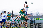 Mark Griffin  Kerry in action against Gavin Doogan Monaghan during the Allianz Football League Division 1 Round 5 match between Kerry and Monaghan at Fitzgerald Stadium in Killarney, on Sunday.