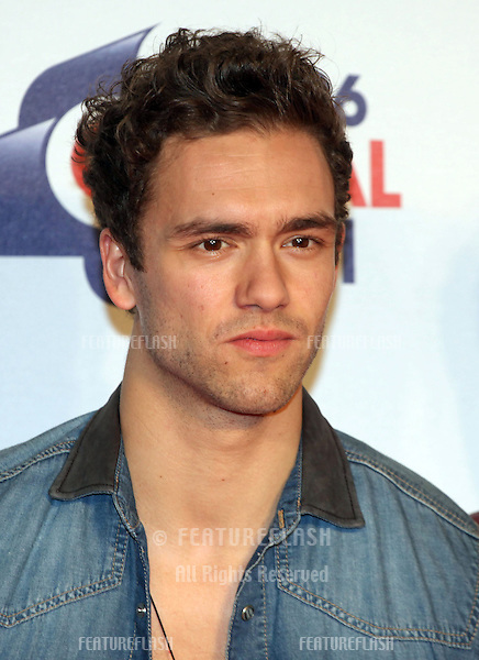 Andy Brown from Lawson arriving for the Capital Radio Jingle Bell Ball, O2 Arena, London. 08/12/2012 Picture by: Alexandra Glen / Featureflash