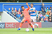 Huddersfield Town's Karlan Grant is fouled by Queens Park Rangers' Yoann Barbet<br /> <br /> Luke Brennan/CameraSport<br /> <br /> The EFL Sky Bet Championship - Queens Park Rangers v Huddersfield Town - Saturday 10th August 2019 - Loftus Road - London<br /> <br /> World Copyright © 2019 CameraSport. All rights reserved. 43 Linden Ave. Countesthorpe. Leicester. England. LE8 5PG - Tel: +44 (0) 116 277 4147 - admin@camerasport.com - www.camerasport.com