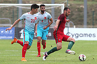 Luis Silva of Stoke City and Portugal U19's tries to shake off a challenge during Portugal Under-19 vs Turkey Under-21, Tournoi Maurice Revello Football at Stade Parsemain on 3rd June 2018