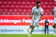 KALMAR, SWEDEN - JULY 01: Rewan Amin of Ostersunds FK celebrates after scoring the 1-2 goal during the Allsvenskan match between Kalmar FF and Ostersunds FK at Guldfageln Arena on July 1, 2020 in Kalmar, Sweden. (Photo by David Lidström Hultén/LPNA)