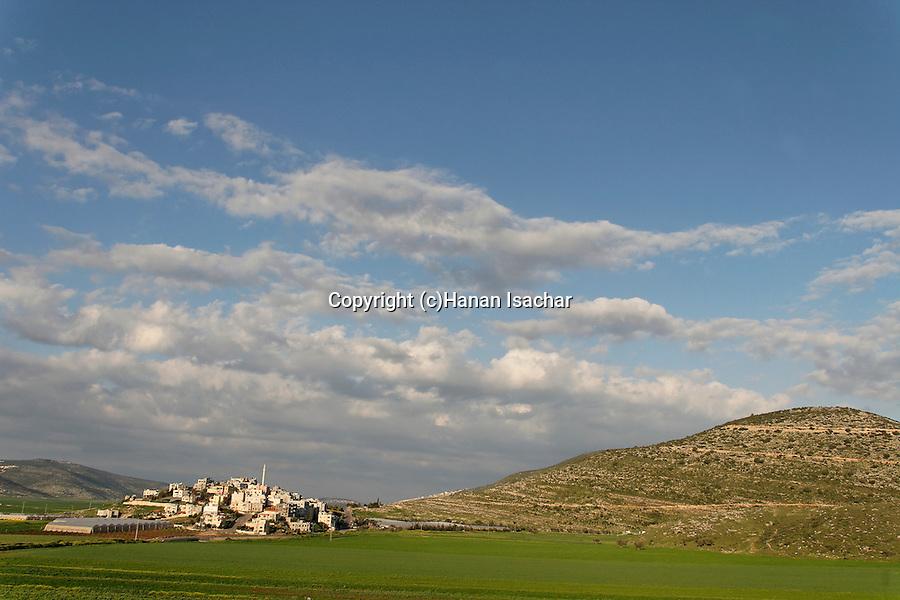 Israel, the Lower Galilee. The Arab village Romana in Beth Natofa valley.