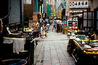So. Korea: Pusan--Narrow street in market area. Photo '81.
