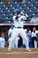 Jake Bauers (11) of the Durham Bulls at bat against the Buffalo Bison at Durham Bulls Athletic Park on April 25, 2018 in Allentown, Pennsylvania.  The Bison defeated the Bulls 5-2.  (Brian Westerholt/Four Seam Images)