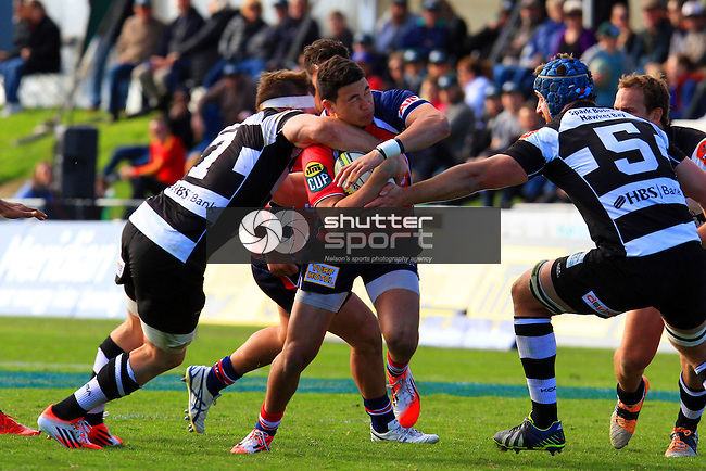 Tasman Makos vs Hawkes Bay Magpies ITM Cup rugby match held at Lansdowne Park, Blenheim 17th August 2014. Photo Gavin Hadfield / Shuttersport