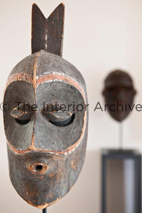 Close up of a Bena Congo mask