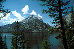 WY: Grand Teton National Park, Wyoming; view of Grand Teton and Jenny Lake     .Photo Copyright: Lee Foster, lee@fostertravel.com, www.fostertravel.com, (510) 549-2202.Image: wygran221