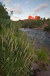 Cathedral Rock and Red Rock Crossing along Oak Creek in Sedona, Arizona