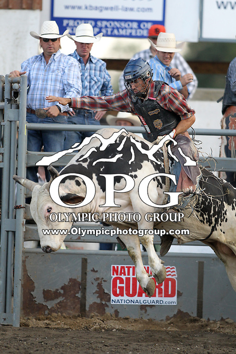 20 Aug 2014:  A.J. Hamre competed in the Seminole Hard Rock Extreme Bulls competition at the Kitsap County Stampede in Bremerton, Washington.