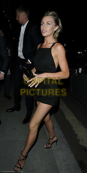 Abigail Clancy.at the Esquire/Mr Porter/Jimmy Choo Event, Corinthia Hotel, Whitehall Place, London, England..15th June 2012.full length black dress clutch bag abbey.CAP/CAN.©Can Nguyen/Capital Pictures.