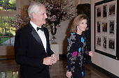 United States Ambassador to Japan Caroline Kennedy, and husband Edwin Schlossberg arrive for the State dinner in honor of Japanese Prime Minister Shinzo Abe and Akie Abe April 28, 2015 at the Booksellers area of the White House in Washington, DC. <br /> Credit: Olivier Douliery / Pool via CNP