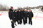FRANCONIA, NH - MARCH 10:   Coaches from the University of Denver pose after the Slalom event at the Division I Men's and Women's Skiing Championships held at Cannon Mountain on March 10, 2017 in Franconia, New Hampshire. (Photo by Gil Talbot/NCAA Photos via Getty Images)