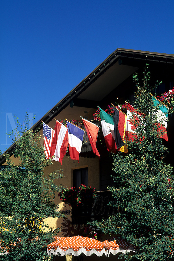 Summer time in Vail Colorado international flag