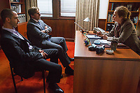 The Big Short (2015)<br /> Steve Carell, Melissa Leo &amp; Jeremy Strong<br /> *Filmstill - Editorial Use Only*<br /> CAP/KFS<br /> Image supplied by Capital Pictures