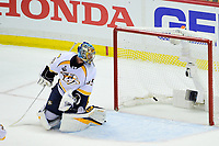 May 29, 2017: Nashville Predators goalie Pekka Rinne (35) looks back as the puck crosses the goal line for the second time in the night at game one of the National Hockey League Stanley Cup Finals between the Nashville Predators  and the Pittsburgh Penguins, held at PPG Paints Arena, in Pittsburgh, PA.   Eric Canha/CSM