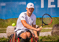 Amstelveen, Netherlands, 19 Augustus, 2020, National Tennis Center, NTC, NKR, National  Junior Wheelchair Tennis Championships, Gino Hamel (NED)<br /> Photo: Henk Koster/tennisimages.com